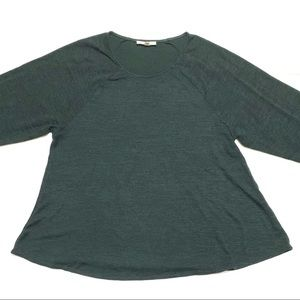 Wilfred Free Green 3/4 Sleeve Shirt Medium